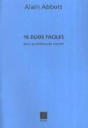16 Duos Faciles pour accordéons de concert laflutedepan.com