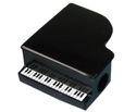 Taille-crayon noir en forme de piano Accessoires laflutedepan.com