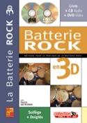 La batterie rock en 3D Patrick Meyronnin Partition laflutedepan.com