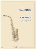 Carassius Pascal Proust Partition Saxophone - laflutedepan.com