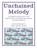 Unchained Melody Alex North & Hy Zaret Partition laflutedepan.com