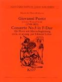 Concerto N° 5 en fa M Giovanni Punto Partition Cor - laflutedepan.com
