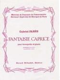 Fantaisie Caprice Gabriel Parès Partition Trompette - laflutedepan.com