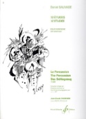 12 Etudes Pour Vibraphone Daniel Sauvage Partition laflutedepan.com