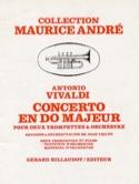Concerto En Do Majeur VIVALDI Partition Trompette - laflutedepan.com