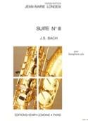 Suite N° 3 - Johann Sebastian Bach - Partition - laflutedepan.com