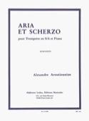 Aria et scherzo Alexander Arutiunian Partition laflutedepan