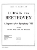 Allegretto From Symphony 7 BEETHOVEN Partition laflutedepan.com