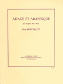 Adage Et Arabesque Berthelot Partition Saxophone - laflutedepan