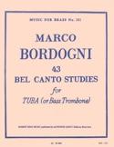 43 Bel Canto Studies Marco Bordogni Partition Tuba - laflutedepan.com
