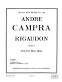 Rigaudon André Campra Partition Ensemble de cuivres - laflutedepan.com