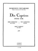 10 Caprices Domenico Ceccarossi Partition Cor - laflutedepan.com