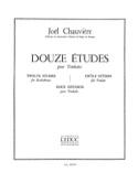 12 Etudes Joël Chauvière Partition Timbales - laflutedepan.com