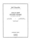 27 Etudes Faciles Joël Chauvière Partition laflutedepan.com