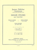 12 Etudes Jacques Delécluse Partition Caisse-claire - laflutedepan.com