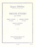 30 Etudes Volume 1 Jacques Delécluse Partition laflutedepan.com