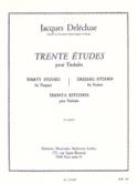 30 Etudes Volume 2 Jacques Delécluse Partition laflutedepan.com