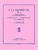A la Manière De... N° 4 Jacques Delécluse Partition laflutedepan.com