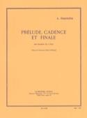 Prélude Cadence Et Finale Alfred Desenclos Partition laflutedepan.com