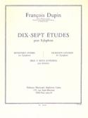 17 Etudes François Dupin Partition Xylophone - laflutedepan.com