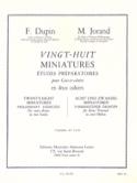 28 Miniatures Volume 1 Dupin F. / Jorand Partition laflutedepan.com