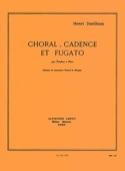 Choral Cadence Et Fugato Henri Dutilleux Partition laflutedepan.com