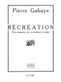 Récréation Pierre Gabaye Partition laflutedepan.com