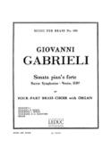 Sonata Pian'e Forte Giovanni Gabrieli Partition laflutedepan.com