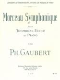 Morceau Symphonique Philippe Gaubert Partition laflutedepan.com