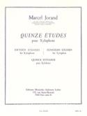 15 Etudes Marcel Jorand Partition Xylophone - laflutedepan.com