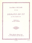 Sonate en Ut - Jean-Marie Leclair - Partition - laflutedepan.com