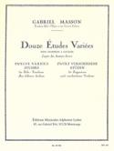 12 Etudes Variées Gabriel Masson Partition Trombone - laflutedepan.com