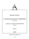 19 Etudes Musicales de Vibraphone Volume 5 laflutedepan.com