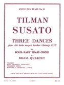 Three dances Tielman Susato Partition laflutedepan.com