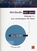 Méthode sax jazz volume 1 Michel Goldberg Partition laflutedepan.com