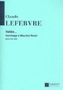 Vallée Claude Lefebvre Partition Cor - laflutedepan.com