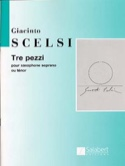 Tre Pezzi Giacinto Scelsi Partition Saxophone - laflutedepan.com