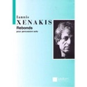 Rebonds Iannis Xenakis Partition Multi Percussions - laflutedepan.com