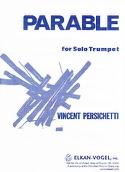 Parable 14 opus 127 Vincent Persichetti Partition laflutedepan.com
