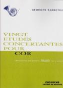 20 Etudes Concertantes Georges Barboteu Partition laflutedepan.com