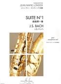 Suite N° 1 BACH Partition Saxophone - laflutedepan.com