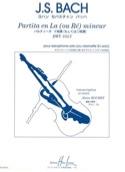 Partita En la (Ou Ré) Mineur BWV 1013 BACH Partition laflutedepan.com