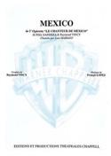 Mexico Opérette Francis Lopez Partition laflutedepan.com