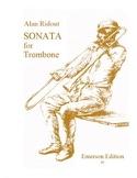 Sonata for solo trombone Alan Ridout Partition laflutedepan.com