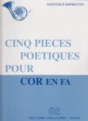 5 Pièces Poètiques Georges Barboteu Partition Cor - laflutedepan.com