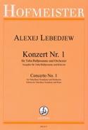 Konzert N° 1 Alexej Lebedjew Partition Tuba - laflutedepan.com