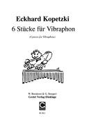 6 stucke fur vibraphone solo - Eckhard Kopetzki - laflutedepan.com
