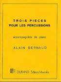 Trois Pièces Pour Percussion Alain Bernaud Partition laflutedepan.com
