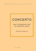 Concerto Pour Vibraphone Et Piano Emmanuel Séjourné laflutedepan.com