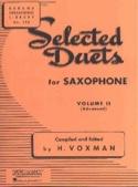 Selected Duets Volume 2 Voxman Partition Saxophone - laflutedepan.com